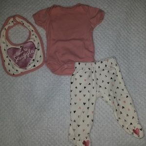 Other - Chick Pea Baby Girl Matching Set 0-3months